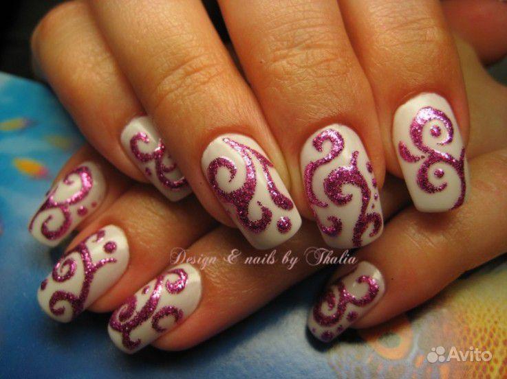 Простые узоры для ногтей