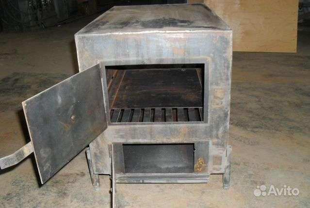 железная печка для гаража на дровах своими руками