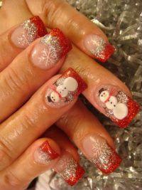 Фото ногтей шеллак новогодний