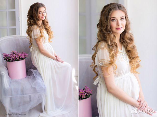 На прокат свадебное платье для беременных