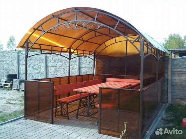 Крыша на беседку из поликарбоната своими руками фото