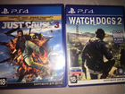 "Продам 2 диска от PS4 ""Just Cause,Watch Dogs 2"""
