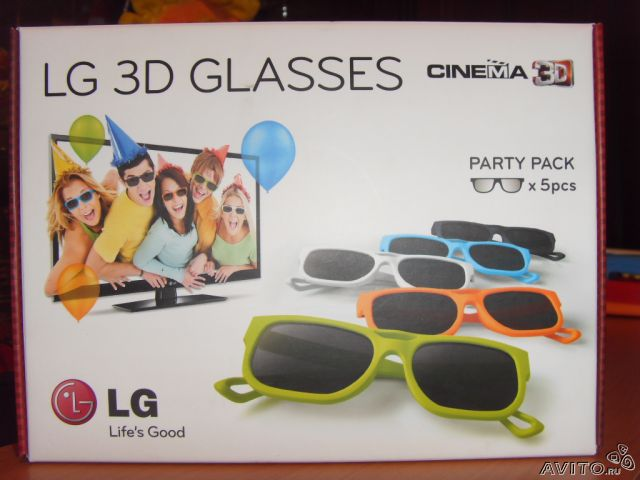 3D-очки LG AG-F215 Party Pack (5 штук)— фотография №1