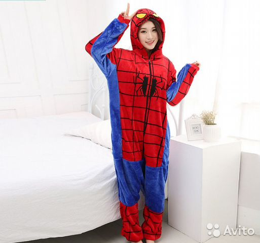 Костюм - пижама (кигуруми) Спайдер мен размер S  d45da7950ba4c
