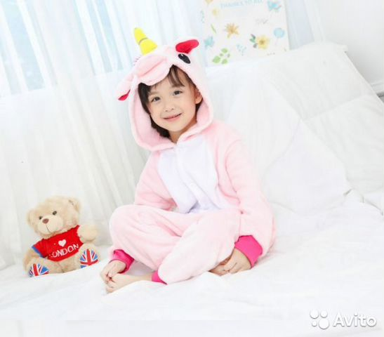 Детская пижама Кигуруми - Единорог (138-150 см) 685d43b54818a