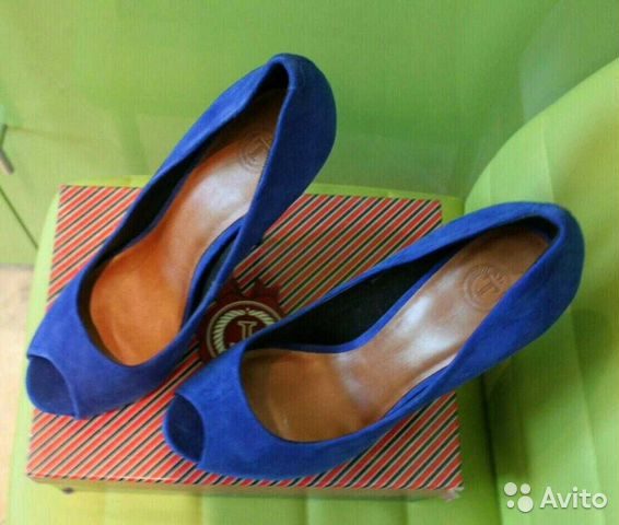 Туфли синии р. 39 89005645185 купить 2
