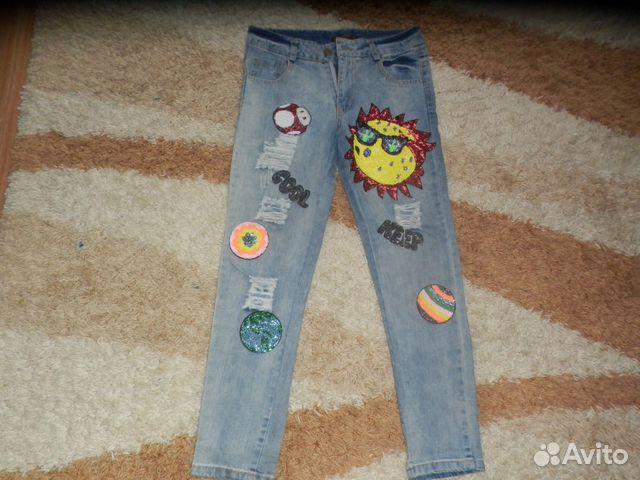 a72fb127197 Крутецкие джинсы с пайетками купить в Калужской области на Avito ...
