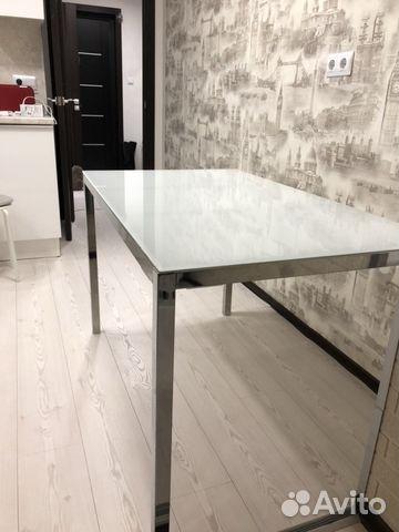 стол стеклянный белый икеа Ikea Festimaru мониторинг объявлений