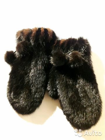 варежки из вязаной норки Festimaru мониторинг объявлений