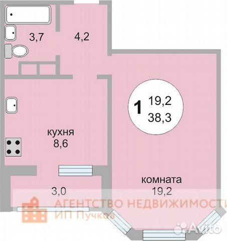 Продается однокомнатная квартира за 3 850 000 рублей. Королёв, Московская область, улица Мичурина, 27к7.