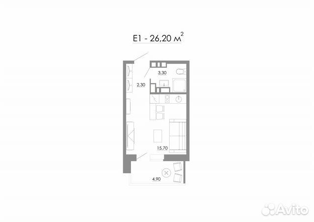 Продается квартира-cтудия за 1 122 000 рублей. г Ростов-на-Дону, ул Заводская, д 35.