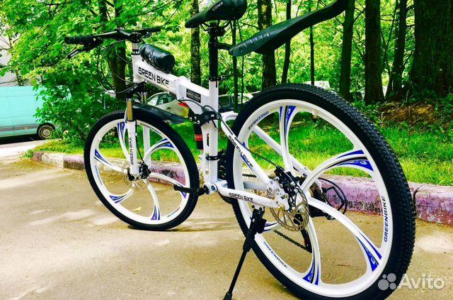 89527559801 Велосипед на литых дисках складной