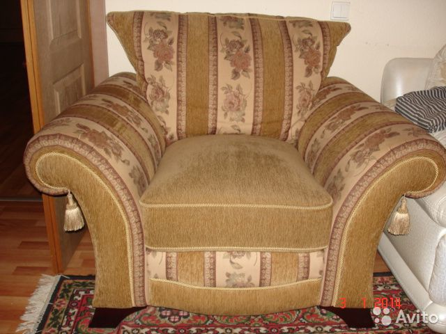мягкая мебель диван и два кресла классика Festimaru мониторинг