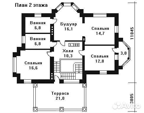 Коттедж 190 м² на участке 30 сот.  89159811181 купить 2