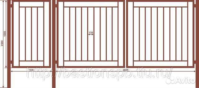 Ворота и калитка 2 в одном для дачи купить ворота автоматические и откатные в одессе