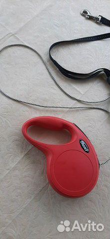 Поводок рулетка Flexi, 5метров, до 20 кг, красная  купить 2