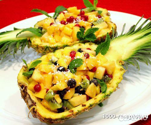 Салаты рецепт с фото ананас