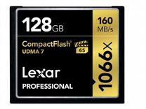 Карта CF Compact Flash Lexar 128gb (1066x)