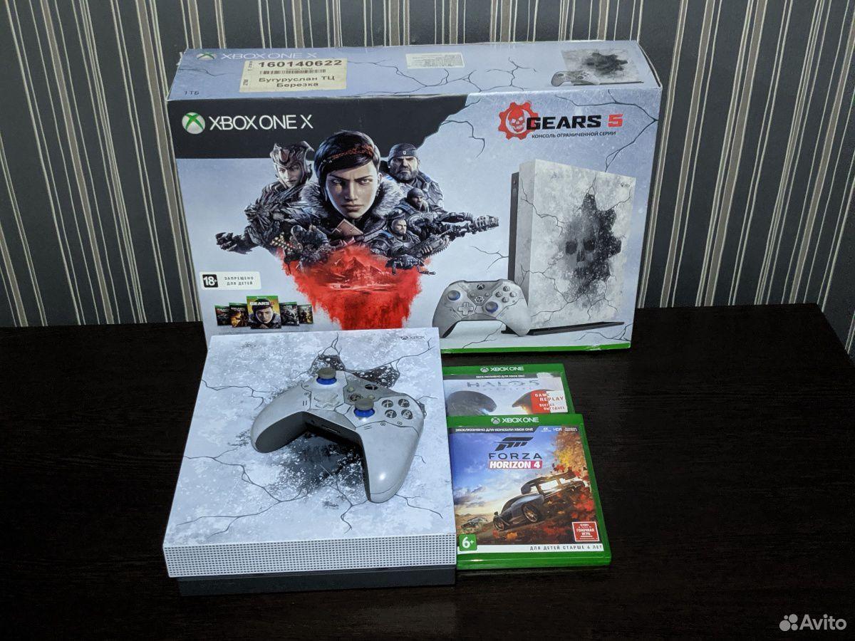 Xbox One X (ограничения серия gears 5)  89873648067 купить 1