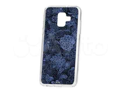 Чехол-накладка Samsung Galaxy A6 (2018) A600f Kruche Print Каменная роза
