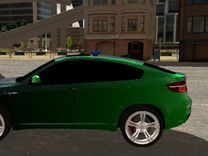 Бмв X6 с мигалкой Из кар паркинг