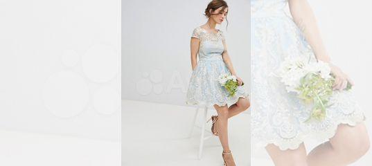 1dcb4a2ffc9 Красивое коктейльное платье с кружевом голубое купить в Москве на Avito —  Объявления на сайте Авито