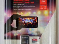 Sandisk Ultra 128gb micro SD, новая