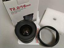 Samyang 16mm T2.2 vdslr II Canon EF — Фототехника в Москве