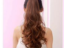 Хвост (шиньон) из волос на клипсе
