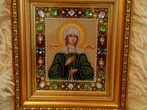 Икона бисером Ксения Петербургская
