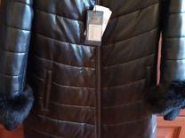 Новое кожаное пальто 48-50