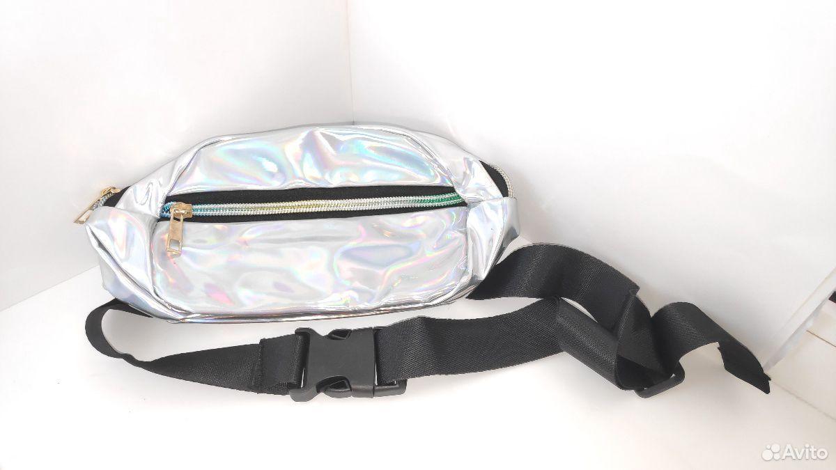 Голографическая поясная сумка (косметичка)  89377776487 купить 2