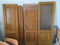 Двери деревянные массив сосны, шпон дуба