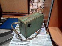 Деревянный ящик для рыбалки